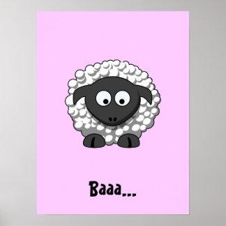 Cartoon Sheep Poster