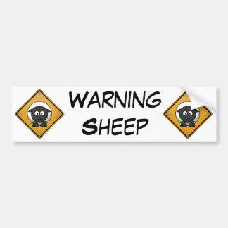 Cartoon Sheep Warning Sign Car Bumper Sticker