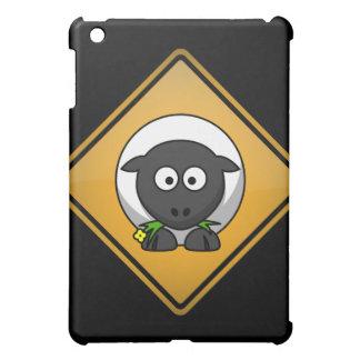 Cartoon Sheep Warning Sign iPad Mini Cases