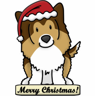 Cartoon Sheltie Christmas Ornament