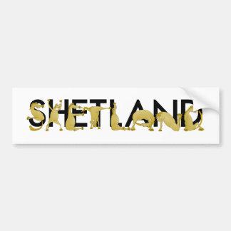 Cartoon Shetland pony Bumper Sticker
