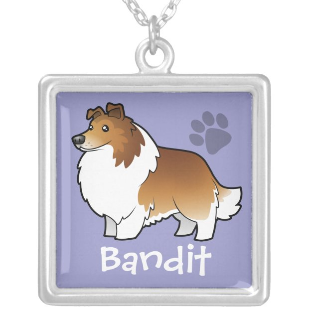 Dog Lover Shetland Sheepdog Silver Charm Pendant Necklace Friend Gift