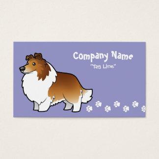 Cartoon Shetland Sheepdog / Collie Business Card