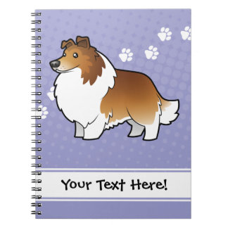 Cartoon Shetland Sheepdog / Collie Notebook