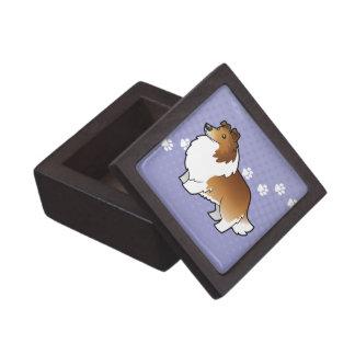 Cartoon Shetland Sheepdog / Collie Premium Trinket Boxes