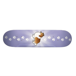Cartoon Shetland Sheepdog / Collie Skateboard