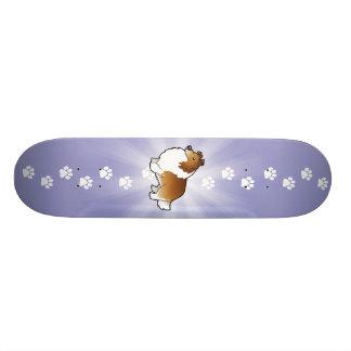 Cartoon Shetland Sheepdog / Collie Custom Skate Board