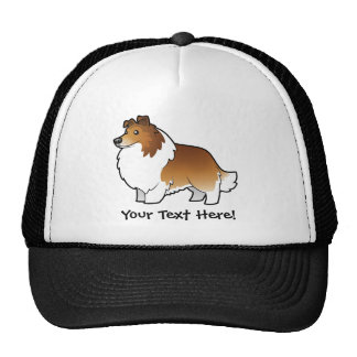Cartoon Shetland Sheepdog / Collie Trucker Hat
