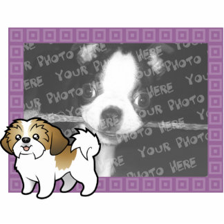 Cartoon Shih Tzu Photo Frame (puppy cut) Acrylic Cut Outs