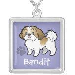 Cartoon Shih Tzu (puppy cut) (add your pets name) Necklace