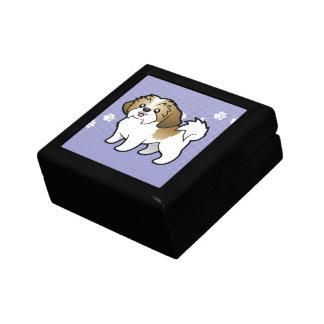 Cartoon Shih Tzu (puppy cut) Keepsake Box