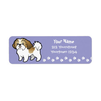 Cartoon Shih Tzu (puppy cut) Label