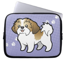 Cartoon Shih Tzu (puppy cut) Laptop Sleeve