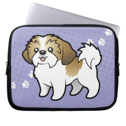 Neoprene Laptop Sleeve 10 inch with Shih Tzu Phone Cases design