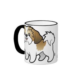 Cartoon Shih Tzu puppy cut Mugs