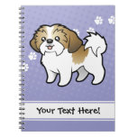 Cartoon Shih Tzu (puppy cut) Notebook