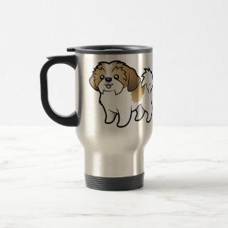Cartoon Shih Tzu (puppy cut) Travel Mug