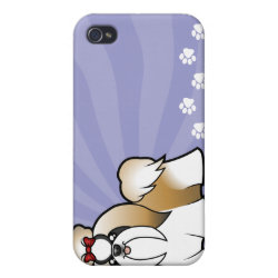 Case Savvy iPhone 4 Matte Finish Case with Shih Tzu Phone Cases design