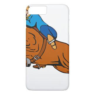 Cartoon Showing Cowboy Riding Horse iPhone 8 Plus/7 Plus Case