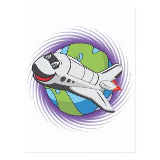 Cartoon shuttle postcard