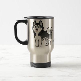 Cartoon Siberian Husky / Alaskan Malamute 15 Oz Stainless Steel Travel Mug