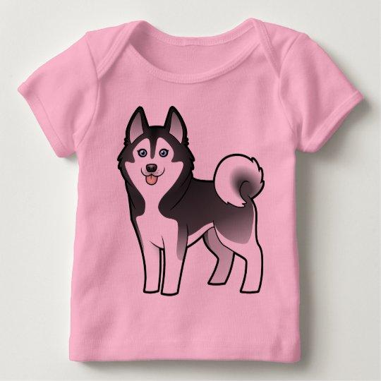 Cartoon Siberian Husky / Alaskan Malamute Baby T-Shirt