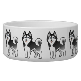 Cartoon Siberian Husky / Alaskan Malamute Bowl