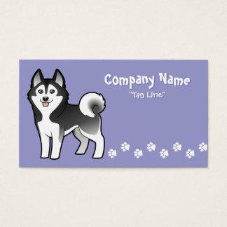 Cartoon Siberian Husky / Alaskan Malamute Business Card
