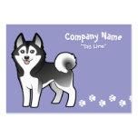 Cartoon Siberian Husky / Alaskan Malamute Business Cards