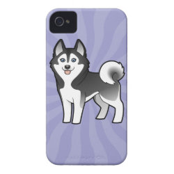 Cartoon Siberian Husky / Alaskan Malamute iPhone 4 Case-Mate Case