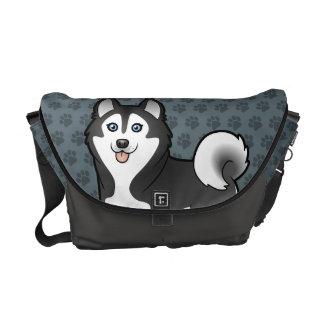 Cartoon Siberian Husky / Alaskan Malamute Courier Bag