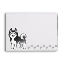 Cartoon Siberian Husky / Alaskan Malamute Envelope
