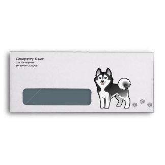 Cartoon Siberian Husky / Alaskan Malamute Envelopes