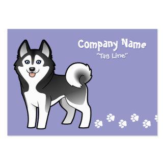 Cartoon Siberian Husky / Alaskan Malamute Large Business Card