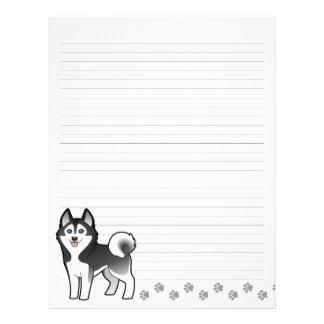 Cartoon Siberian Husky / Alaskan Malamute Letterhead