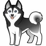 Cartoon Siberian Husky / Alaskan Malamute Photo Cut Outs