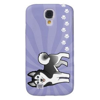 Cartoon Siberian Husky / Alaskan Malamute Samsung Galaxy S4 Case