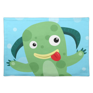 Cartoon Silly Green Monster Placemat