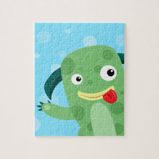 Cartoon Silly Green Monster Puzzles