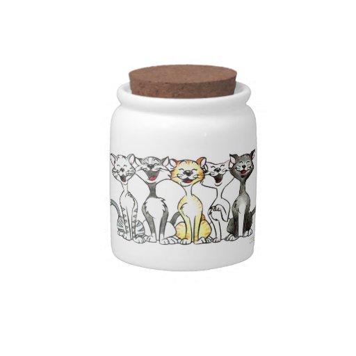 cartoon singing cats candy jar