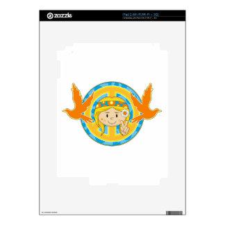 Cartoon Sixties Peace Hippie Girl Skin For The iPad 2