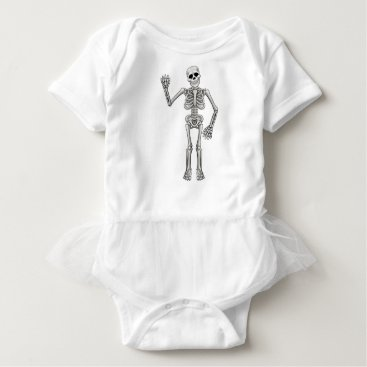Cartoon Skeleton Baby Bodysuit