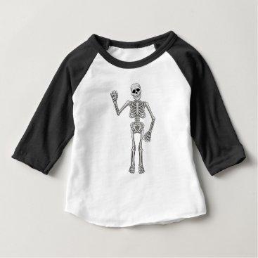 Halloween Themed Cartoon Skeleton Baby T-Shirt