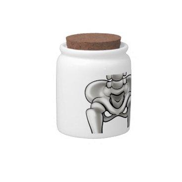 Halloween Themed Cartoon Skeleton Candy Jar