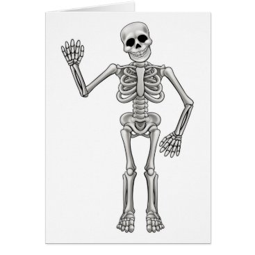Halloween Themed Cartoon Skeleton Card