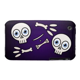 Cartoon Skeleton Case-Mate iPhone 3 Case