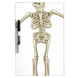 Cartoon Skeleton Character Dry-Erase Board