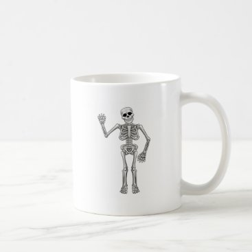Halloween Themed Cartoon Skeleton Coffee Mug