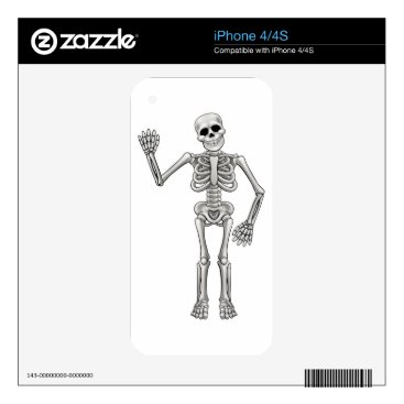 Halloween Themed Cartoon Skeleton Decals For iPhone 4S