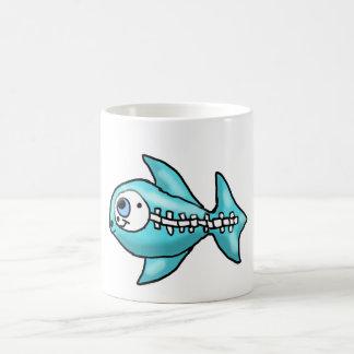 Cartoon Skeleton Fish Coffee Mug